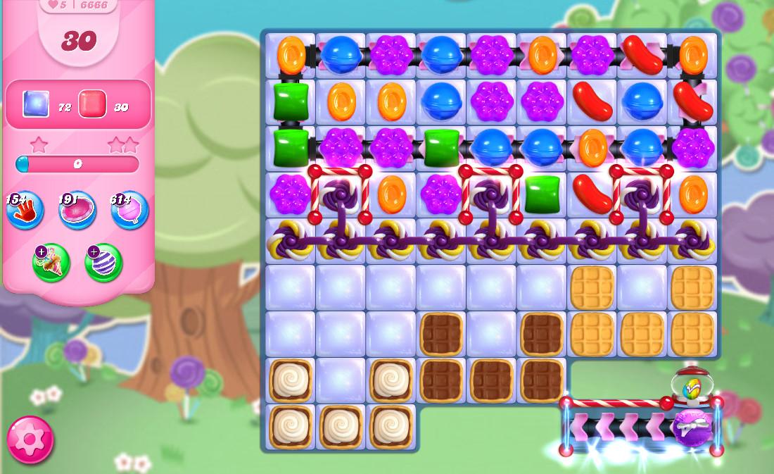 Candy Crush Saga level 6666