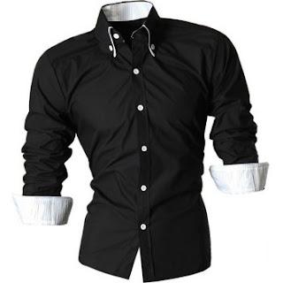 DRESSLILY - black button down shirt online/wishlist.