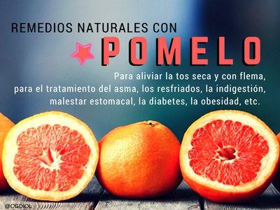 El Pomelo sirve para un sinfín de remedios naturales por ser antimicrobiano, antioxidante, eliminación de radicales libres, anti-inflamatorio y anti-bacteriano, etc