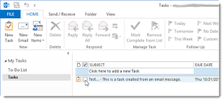 How to Create a Task From Email Messages In Outlook  How to Create a Task From Email Messages In Outlook 2013