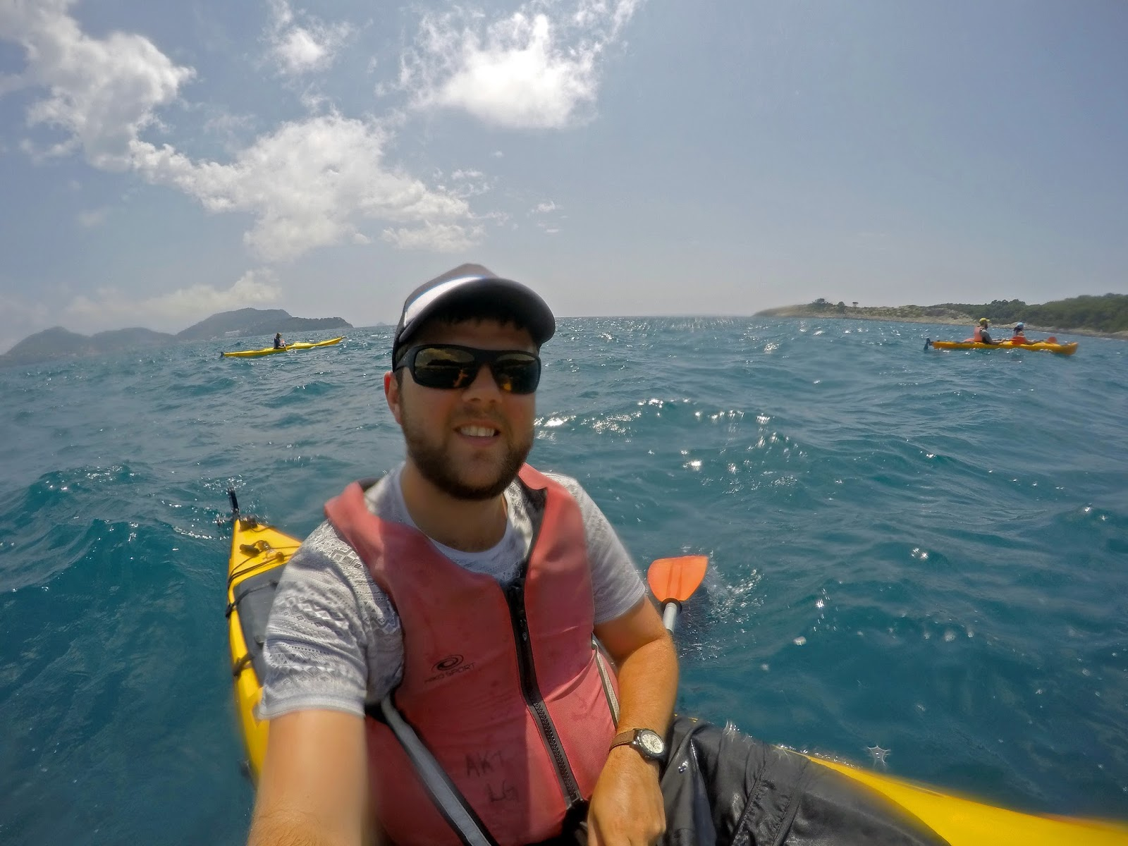 Boy Kayaking Elafiti Islands with Adriatic Kayak Tours