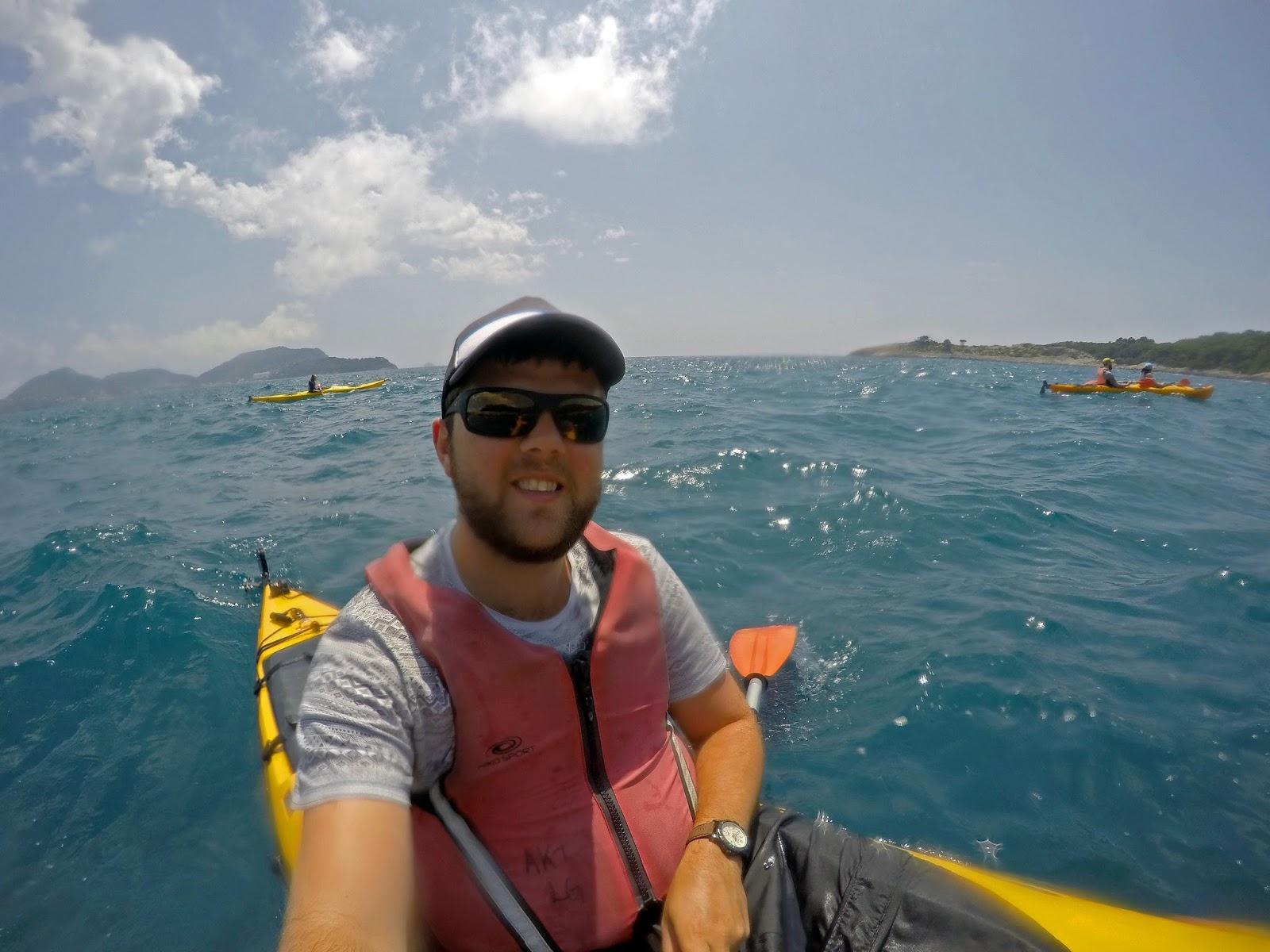 Boy Kayaking Elafiti Islands with Adriatic Kayak Tours