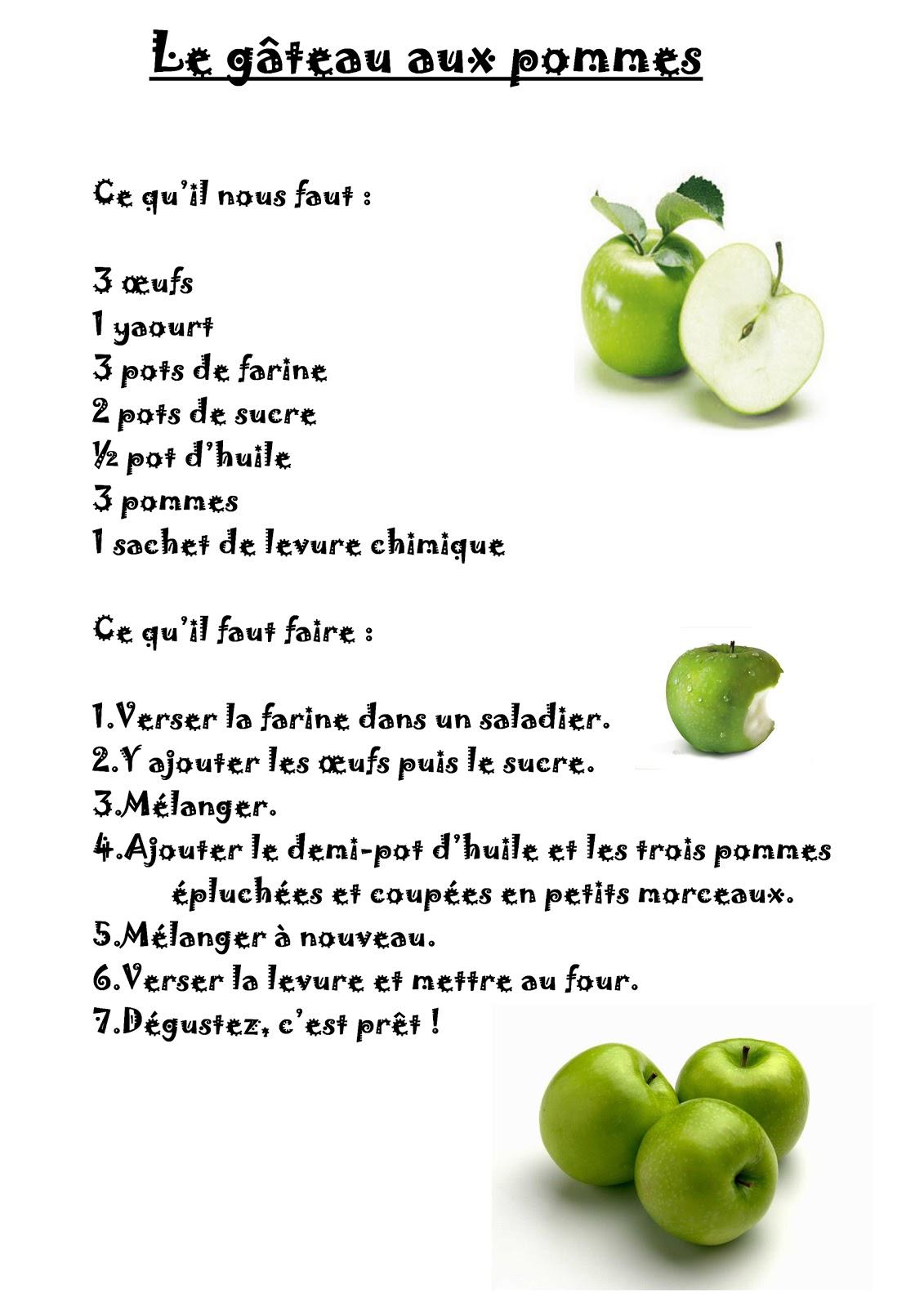 La Maternelle De Laurene Le Gateau Aux Pommes