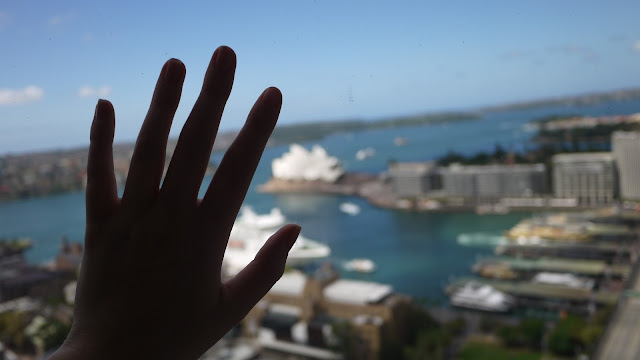 View of the Opera House from the Shangri La Sydney