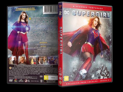 Capa DVD Supergirl - Segunda Temporada - Disco 5