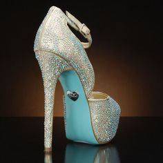 Betsey Johnson Blue Sole Bridal Shoes
