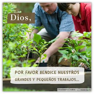 Oración del Día Miércoles - Para que Dios Bendiga la Obra de tus Manos