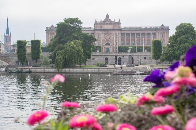 Riksdag, o parlamento sueco, no Gamla Stan, o centro histórico medieval de Estocolmo