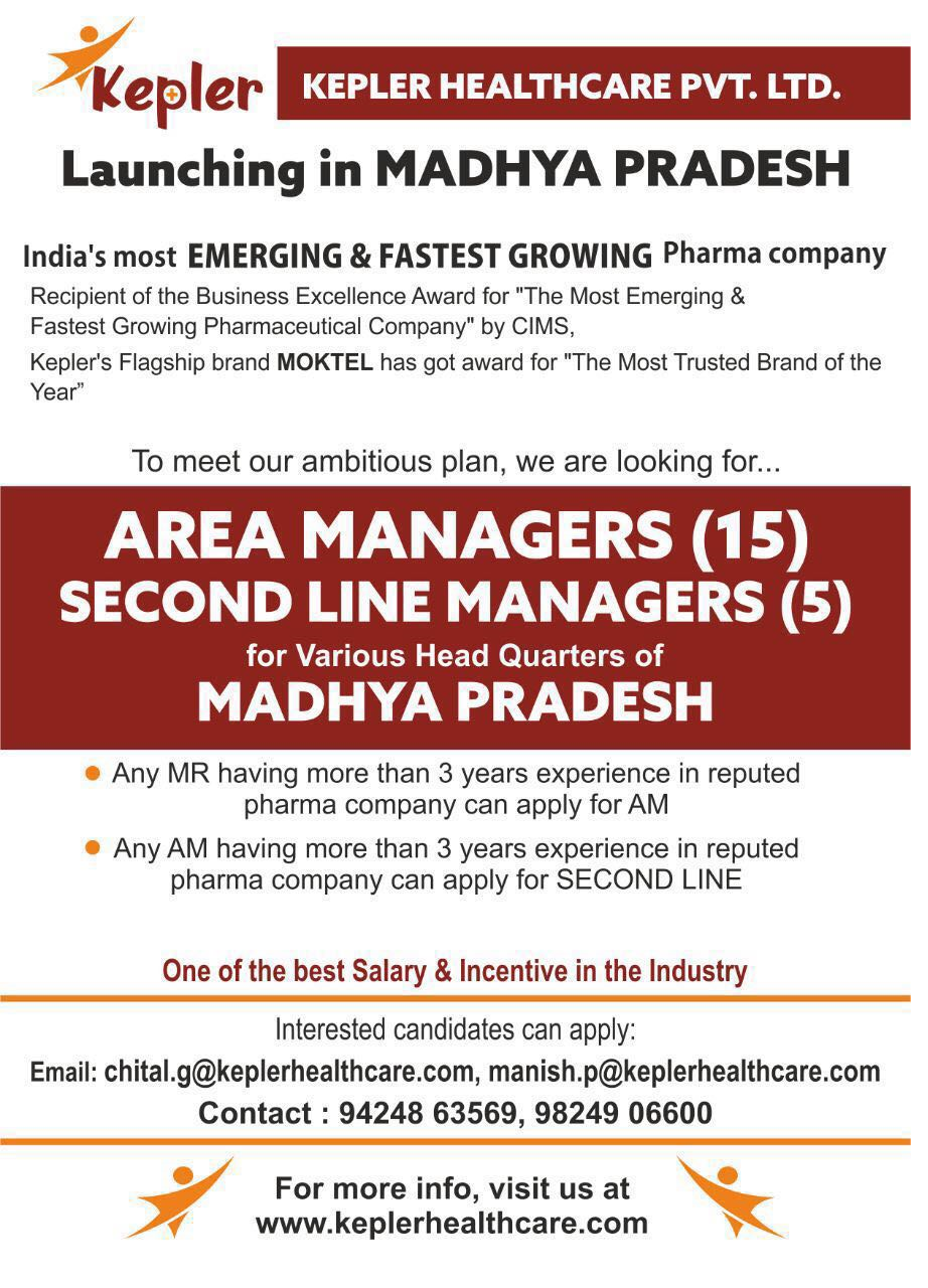 Kepler Healthcare - Looking for Area Managers & Second Line