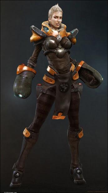 Dsng' Sci Fi Megaverse Female Fantasy Character Concept Design - Part 1