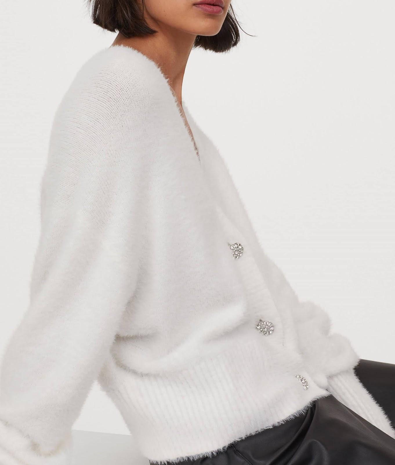 rhinestone-button cardigan