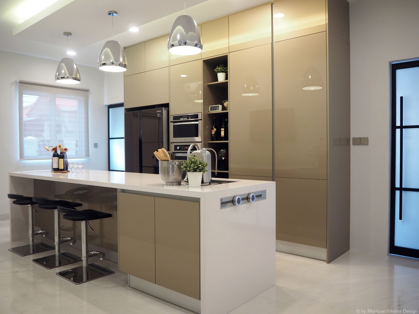 Meridian interior design and kitchen design in kuala for Terrace kitchen ideas