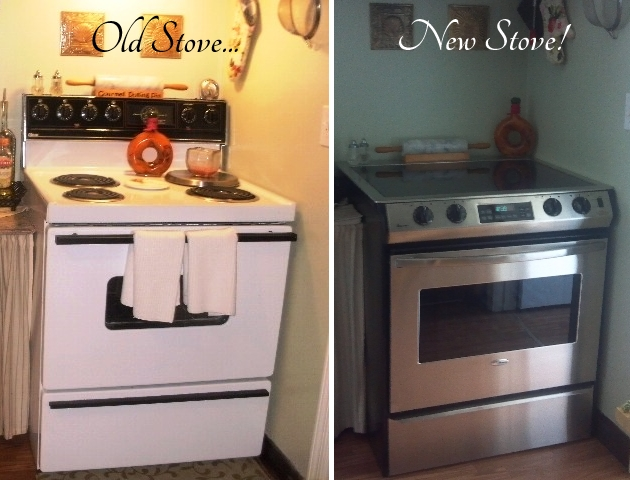 Before and after of Stove
