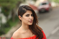 Rhea Chakraborty in Red Crop Top and Denim Shorts Spicy Pics ~  Exclusive 355.JPG