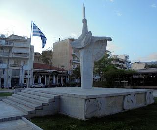 το μνημείο της Εθνικής Αντίστασης στην Καλαμάτα