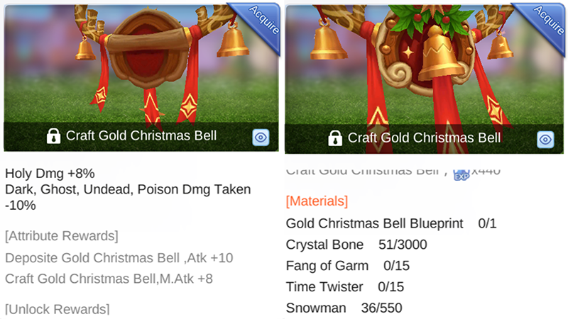 How to Unlock Gold Christmas Bell in 'Ragnarok M: Eternal Love
