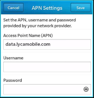 LycaMobile APN Settings US