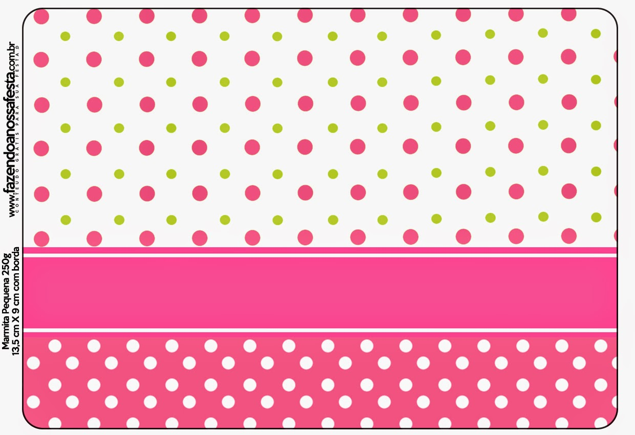 Sweet 16 Pink, Green and White Polka Dots Free Printable Candy Bar Labels.