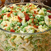 Green Pea Salad with Bacon and Cheese