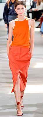 Look monocromático laranja