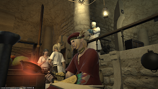Culinarian doing crafting in Final Fantasy 14