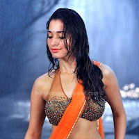 Tamanna hot in sexy wet saree