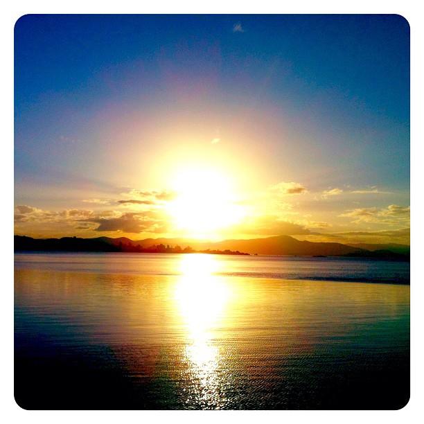 Por do sol em Floripa