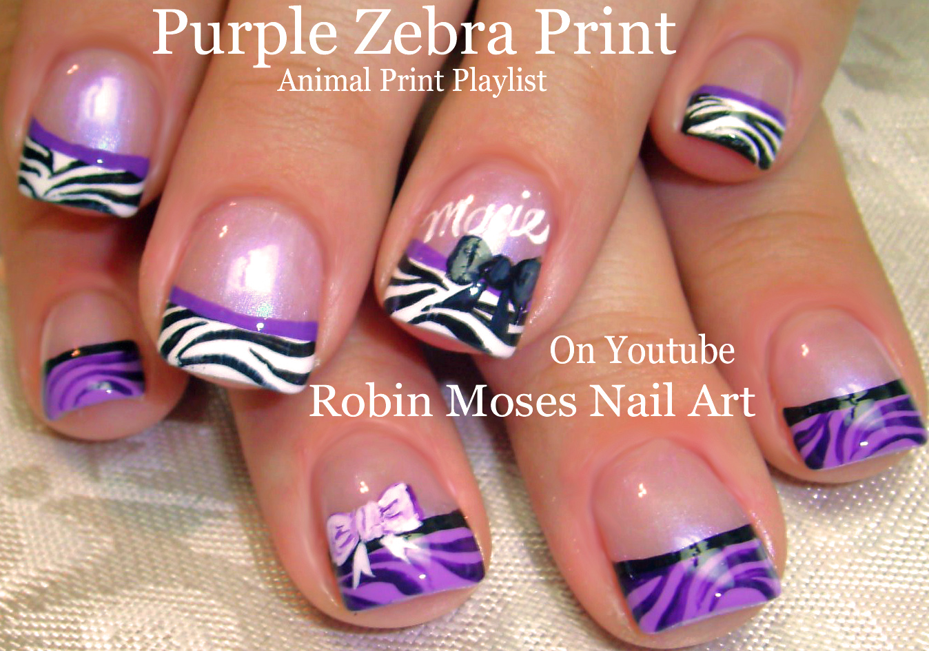 Nail Art by Robin Moses: BI POLAR GIRLS NAILS! Watercolor Flower ...