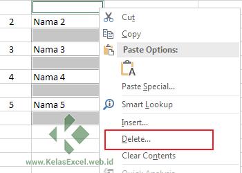 Delete Blank Rows Excel