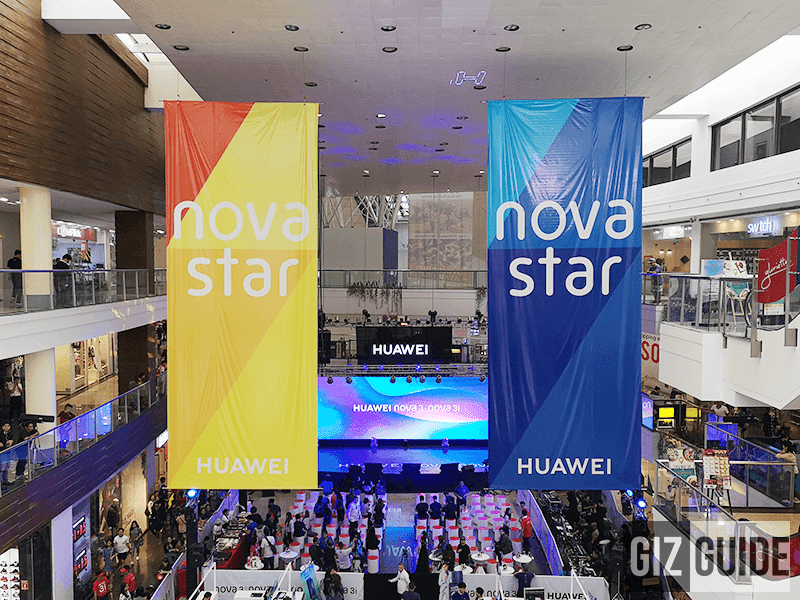Huawei occupied 2 activity centers in Glorietta mall for the launch of the new Nova phones!