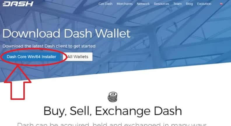 wallet dash instalar