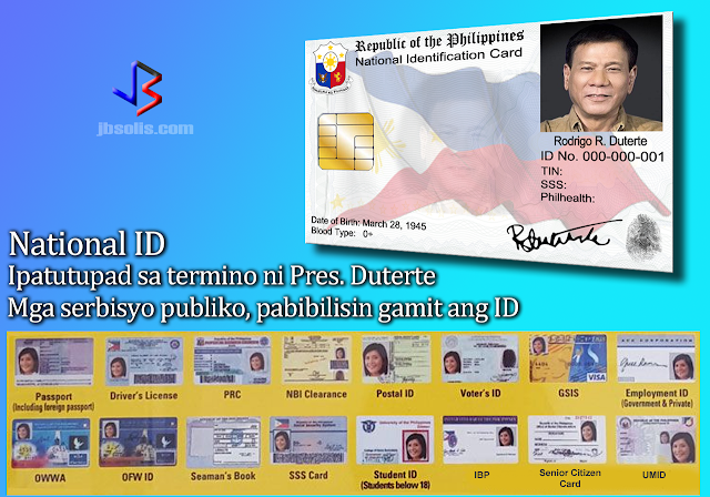 "The government is planning to put in place a national ID system within President Rodrigo Duterte's term. This will help improve the delivery of social services according to one of his economic managers.  The plan is to replace all government-issued identification cards with the National ID. The passport and drivers' license will have to remain separate. Budget Secretary Benjamin Diokno said the ID will contain biometric data and will be issued at birth and renewable when the citizen turns 18.  According to the secretary, an executive order is being drafted for the national ID. It will be issued to all 105 million Filipinos ""within two years of the enactment of the proposal.""  ""We intend to give all Filipinos a national ID that will also function as a social welfare card."" The ID's will contain an EMV - a chip-based technology that is similar to the ones used in credit cards for secure transactions. This will enable public transports, shops, hospitals and other public service places to determine who can avail of discounts on transportation, medicine and health care services, Sec. Diokno said.  The government plans to prioritize senior citizens and the poorest 5 million households in the registration and distribution of the National IDs.  A similar bill on National ID has been passed at the committee level of the House of Representatives last month, while two other bills are currently being discussed in the Senate as well.   Duterte's predecessors had unsuccessfully pushed for a national ID, following criticism that it could invade privacy. The first to try was Fidel Ramos back in 1996. However, his initiative was struck down by the Supreme Court on the ground that legislative approval is required for the scheme. The closest the country came to a National ID was the Unified Multi-Purpose ID Card (UMID) that is issued to the members of SSS, GSIS, Philhealth and Pag-ibig.  If the government's plan is approved, then we could expect smoother transactions in the future. Abusing social services will also be a thing of the past since the National ID will differentiate between citizens who are qualified for government support. Finally, the security of society in general will be improved since all Filipinos will be required to register for a National ID - which in turn will be required, among other things, to open bank accounts (no fictitious accounts), register sim cards (bye bye text scams) and for voting in the elections (flying voters go away).  Do you agree on President Duterte's plan to implement a National ID system? Comment now!"
