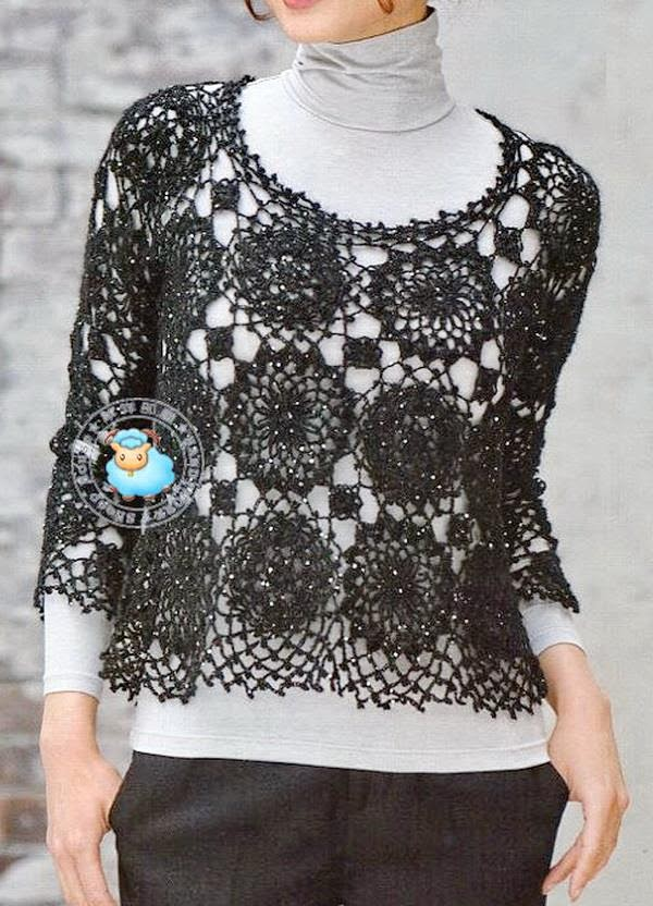 Crochet Lace Sweater For Women