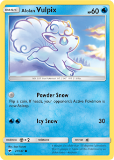 Alolan Vulpix Burning Shadows Pokemon Card