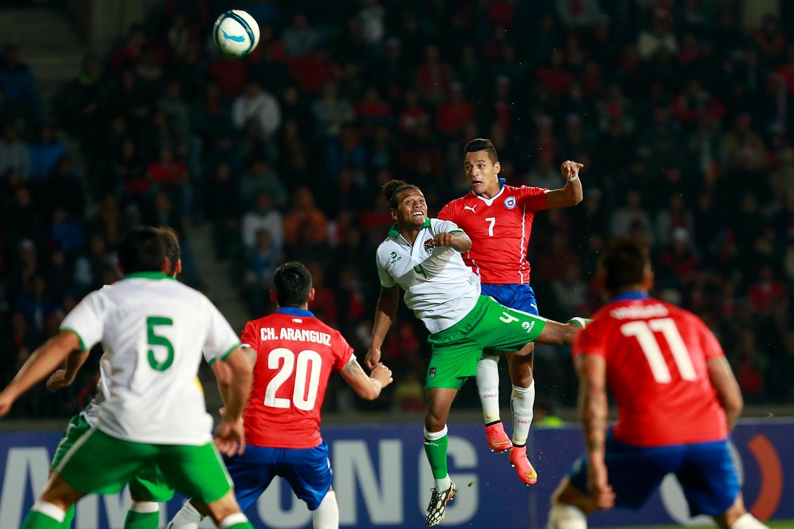 Chile y Bolivia en partido amistoso, 14 de octubre de 2014