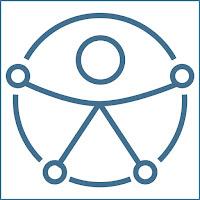 Icono de una figura con los brazos abiertos dentro de un círculo.