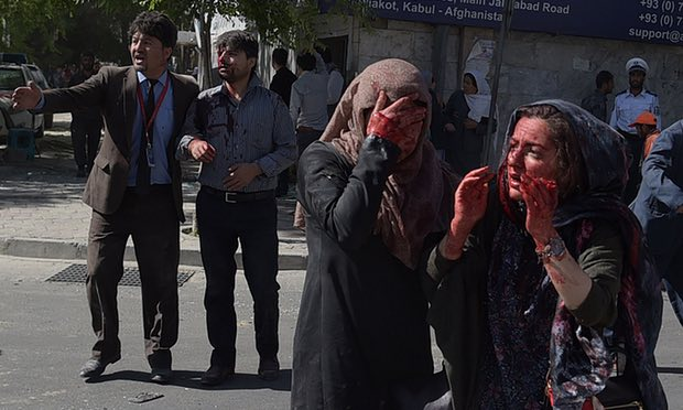 Kabul bomb: 'It felt like an earthquake, then everything came down'