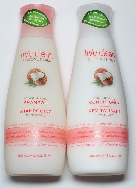 Live Clean Coconut Milk Shampoo and Conditioner