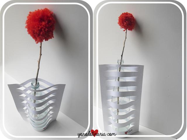 floreros, vasos, origami, papel, manualidades, técnicas