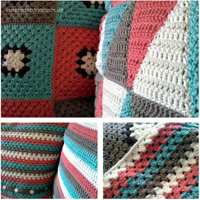 Kissen häkeln / crochet pillow / crochet cushion