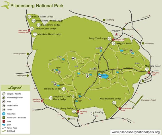 plano de pilanesberg safari