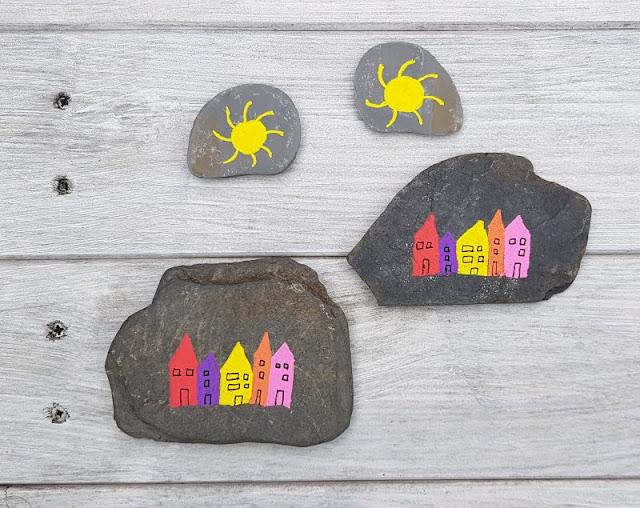 DIY: Ein Steinmemory für Kinder aus bemalten Steinen. Die Steine für das Memory haben wir mit den Kindern zusammen bemalt.