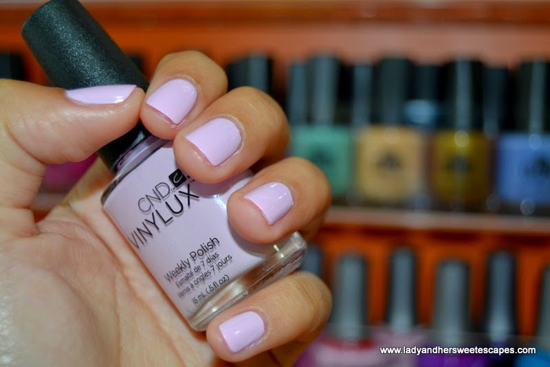 CND Vinylux pink polish at Orange Beauty Center