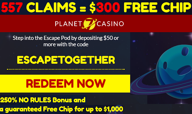 Win $1,000 Free Casino Chip from Planet7 Casino