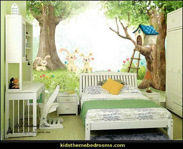 Fairy Tales Home Wall Paper   treehouse theme bedrooms - backyard themed kids rooms - cat decor - dog decor - bugs and critters theme bedrooms - camping theme bedrooms - Happy Camper little boys outdoor theme bedroom