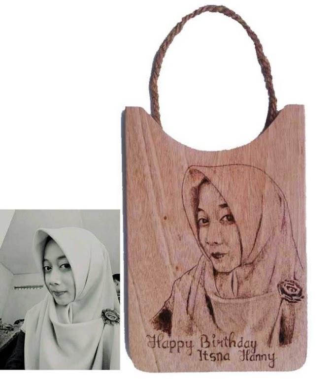 HBD Gift Pirografi untuk Itsna Hanny
