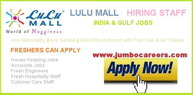 Lulu Mall Hiring Staff for India & Gulf Countries - Lulu