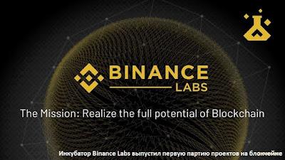 Инкубатор Binance Labs выпустил первую партию проектов на блокчейне