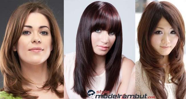 Potongan Rambut Sebahu Dengan Layer Cut Atau Model U