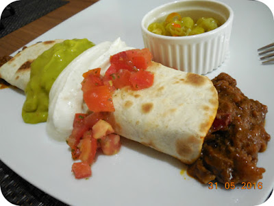 Burrito de chili con carne de vita